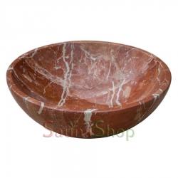Круглая курна для хамама TSL-8 Red Marble