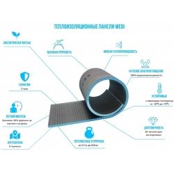 Теплоизоляция в хамам Wedi 2500x600x10мм.