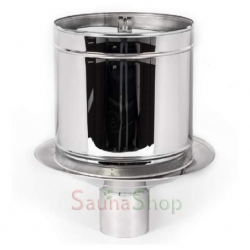 Искрогаситель (дефлектор) для дымохода, нержавейка (выход 120мм)