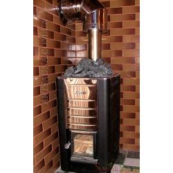 Колено дымохода 90° для бани, нерж/оц.