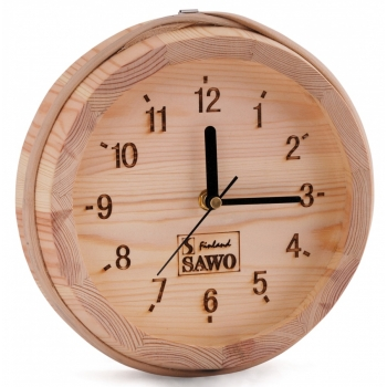 Часы для комнаты отдыха Sawo 531P, сосна D230мм/50мм