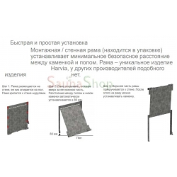 Каменка для бани Harvia The Wall SW90 Black Steel