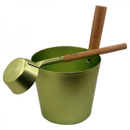 Набор шайка + черпак для сауны Greus Green