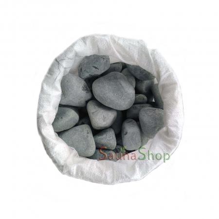 Камни для бани порфирит шлифованный, 20 кг. Фракция 50-70мм.