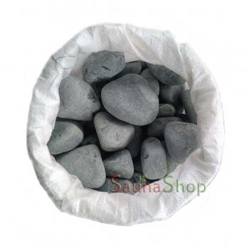 Камни для сауны порфирит шлифованный, 20 кг. Фракция 80-150мм.