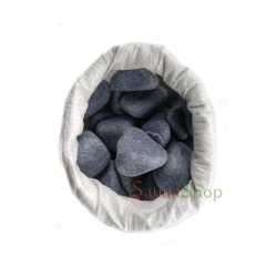 Камень для бани серпентинит шлифованный, 20кг. Фракция 50-70мм.