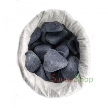 Круглые камни для бани серпентинит, 20кг. Фракция 80-150мм.