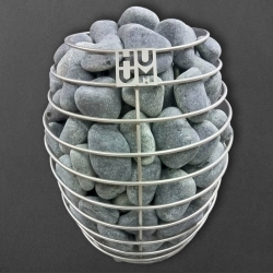 Камень для бани серпентинит шлифованный, 20кг. 50-70мм.
