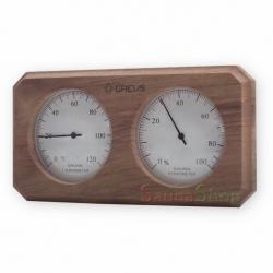 Термогигрометр для бани из кедра, Greus