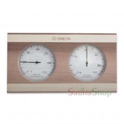 Термогигрометр для сауны Greus Кедр/Сосна
