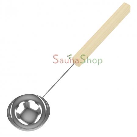 Черпак из нержавейки с дерев. ручкой Sawo 445-МP