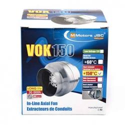 Канальный высокотемпературный вентилятор VOK 100/120