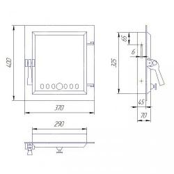 Дверца чугунная SVT 412
