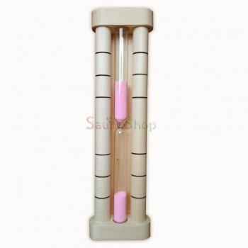 Песочные часы для бани D1-pink