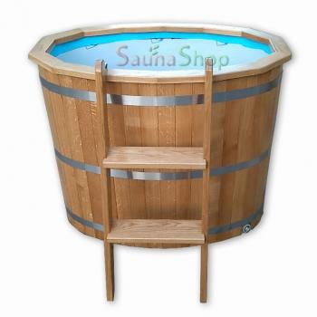 Бочка купель (мини бассейн) из дуба  + PP вставка
