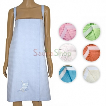 Женское полотенце для сауны на липучке, сарафан, хлопок 100%