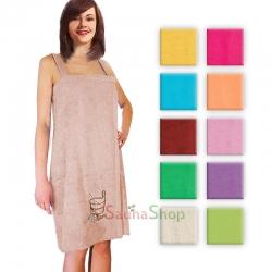 Женское махровое полотенце для сауны