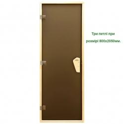 """Двери для бани Tesli """"Sateen RS"""" стекло Матовое-8мм. (выбор размера)"""