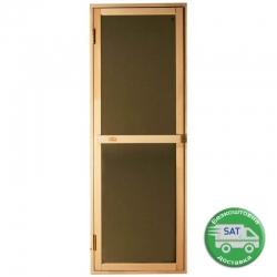 """Стеклянные двери для бани Tesli """"Bravo Sateen"""" 700*1900мм."""