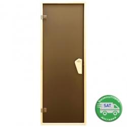 """Стеклянные двери для сауны Tesli """"Briz RS"""" 700*1900мм. Стекло 6мм."""