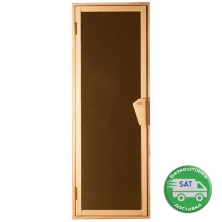 """Матовые двери для бани Tesli """"Uno Sateen"""" 700*1900мм."""