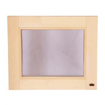 Окно для бани глухое Tesli 500х600мм.