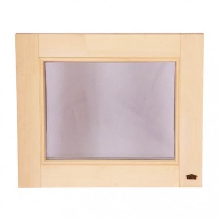 Окно для бани глухое Tesli 500х600мм