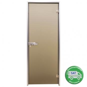 """Двери для душевой или хамам Tesli """"Terra Bronze Sateen"""", выбор размера"""
