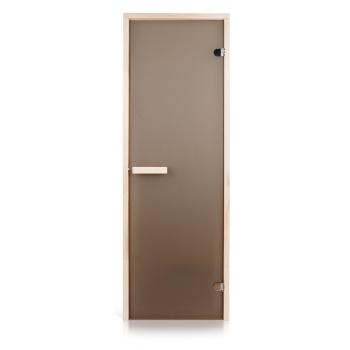 Двери для бани Greus бронза матовая (выбор размера ниже)