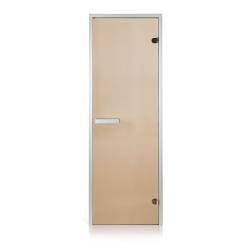 Двери для парной (хамам) Greus бронза прозрачная