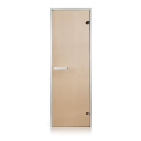 Двери для парной Greus бронза прозрачная