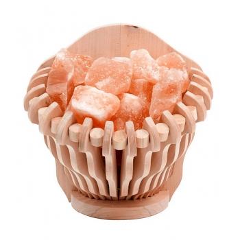 Корзина прямая с гималайской солью 4,5 кг для бани и сауны