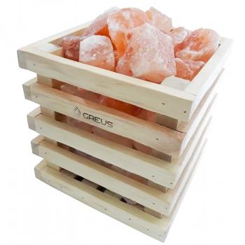 """Корзина """"Куб соли"""" 4,5 кг тибетской соли, для бани и сауны"""