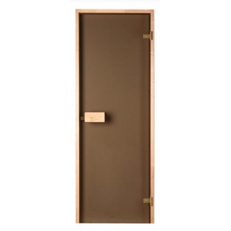 Двери для саун Saunax бронза прозрачная