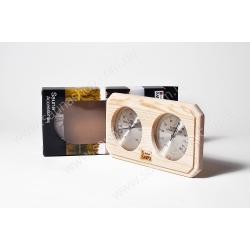 Термогигрометр для бани 2 в 1, сосна Sawo 221 THP