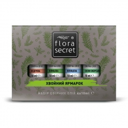 """Ароматический набор для сауны или бани """"Хвойный ярмарок"""", Flora Secret 4Х10мл"""