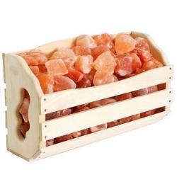 Полка с гималайской солью 10кг для бани и сауны