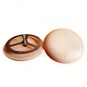 Грибок-вентиляционный клапан для сауны Greus 100мм, липа