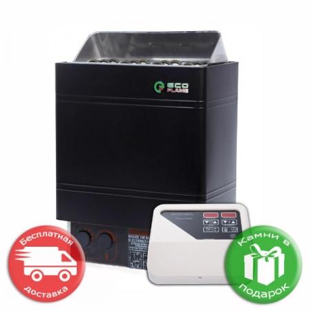 Электрокаменка для сауны и бани Eco Flam eAMC 90-D 9 кВт + пульт CON4