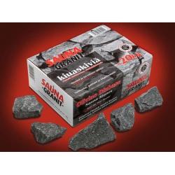Камни для бани - оливиновый диабаз колотый, 20кг Финляндия