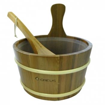 Шайка для бани из кедра 4л. + кедровый черпак