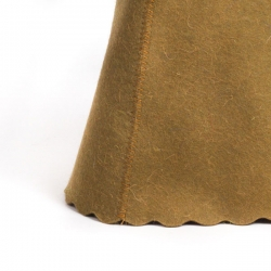 Фетровая шапка для бани, цвет коричневый