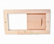 Шибер вентиляционный для бани сауны 240х130мм., липа