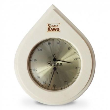Термогигрометр для сауны Sawo 251-THА из осины