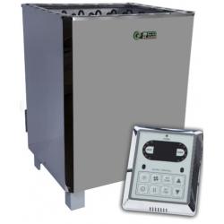 Электрокаменка для бани Eco Flame SAM D-12 12 кВт + пульт CON6 пульт на корпусе