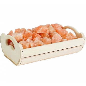 Гималайская розовая соль Ящик 10 кг для бани и сауны