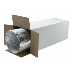 Вентрукав, воздуховод термостойкий для бани, сауны Aludec, 102мм.