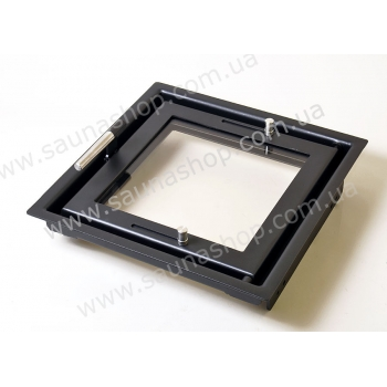 Дверца для камина со стеклом Valte New Vision 400/400
