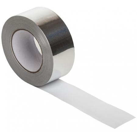 Скотч термостойкий алюминиевый для саун 50мм  50м.п.