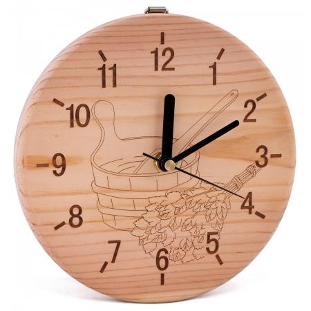 Часы для комнаты отдыха Sawo 532P, сосна